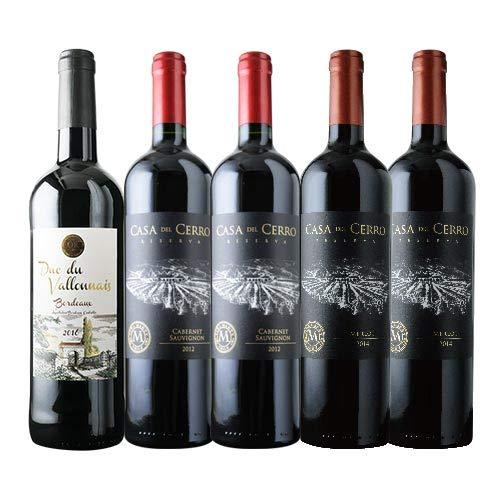 金賞ボルドーとオーパス・ワン醸造家ワイン赤5本セット