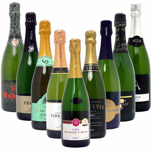 本格シャンパン製法だけの厳選泡9本セット