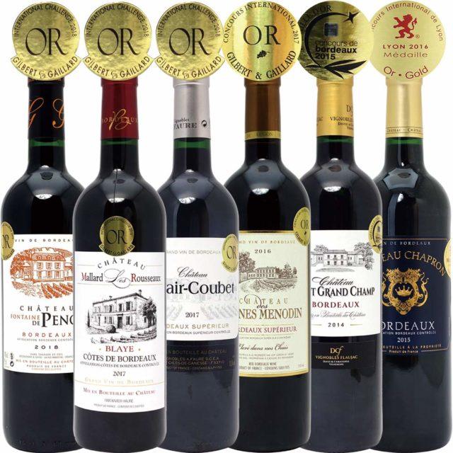 フランスボルドー 辛口赤ワイン6本セット