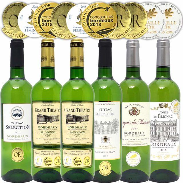 ボルドー 辛口白ワイン6本セット