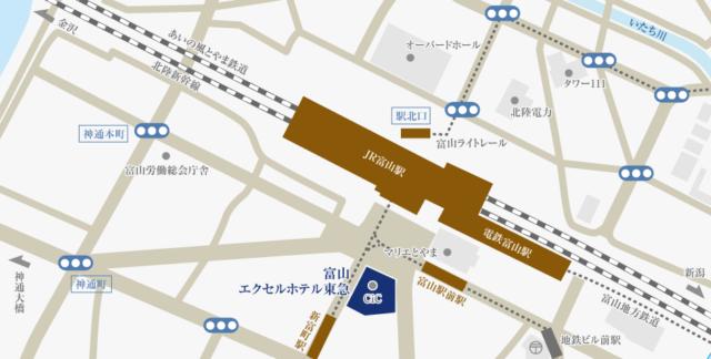 エクセルホテル東急へのアクセス